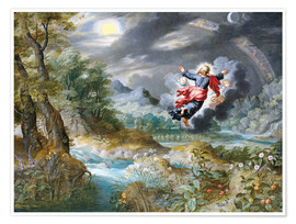 Poster  God creating the sun, the moon and the stars in the Firmament - Jan Brueghel d.Ä.