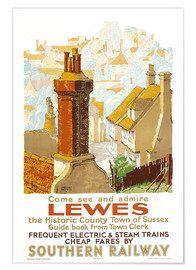 Gregory Brown - Lewes, poster advertising Southern Railway