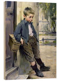 Tableau en bois  Out of the Game - Henri Jules Jean Geoffroy