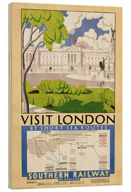 Tableau en bois  Visite de Londres (anglais) - English School