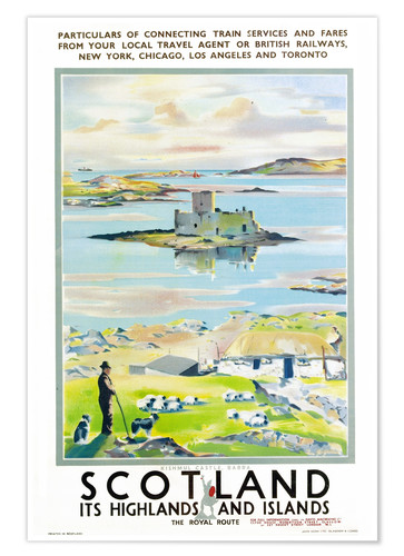Poster Scotland, it's Highlands and Islands