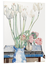 Tableau en PVC  Tulipes blanches - Charles Rennie Mackintosh