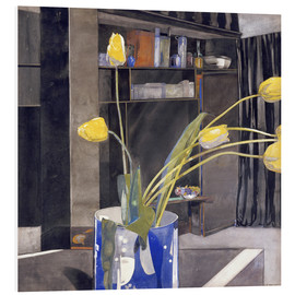 Tableau en PVC  Yellow Tulips - Charles Rennie Mackintosh