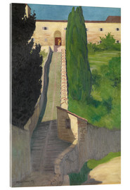 Verre acrylique  The Steps of the Convent of San Marco, Perugia, 1913 - Felix Edouard Vallotton