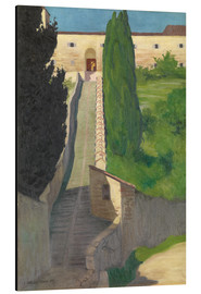 Tableau en aluminium  The Steps of the Convent of San Marco, Perugia, 1913 - Felix Edouard Vallotton