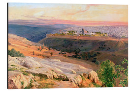 Tableau en aluminium  Jerusalem from the Mount of Olives - Edward Lear