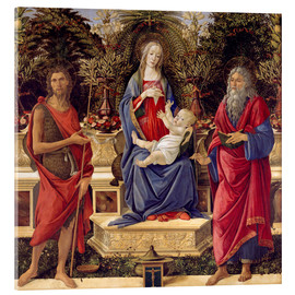 Tableau en verre acrylique  madonna with saints - Sandro Botticelli