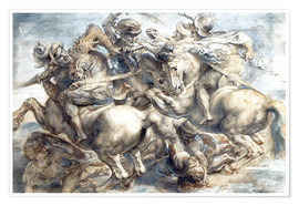 Poster  Battle of Anghiari, sketch - Peter Paul Rubens