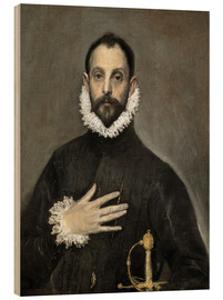 Bois  The Caballero with his Hand on His Heart - Dominikos Theotokopoulos (El Greco)