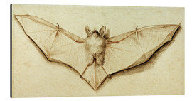 Tableau en aluminium  Bat with spread wings - Hans Holbein d.J.