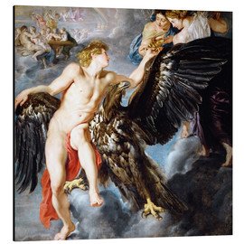 Tableau en aluminium  Abduction of Ganymede - Peter Paul Rubens