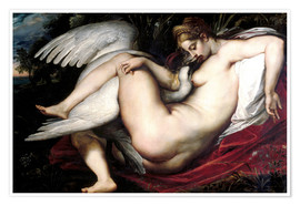 Poster  Leda and the Swan - Peter Paul Rubens