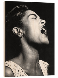 Tableau en bois  Billie Holiday