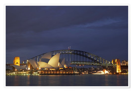 Poster  Opéra de Sydney et Harbour Bridge - David Wall
