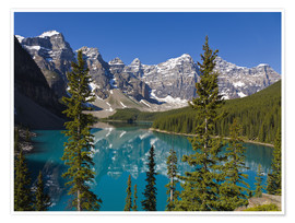 Poster  Lac Moraine dans le parc national de Banff, Canada - Paul Thompson