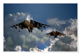Poster  Harrier Approach - airpowerart