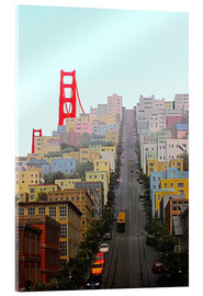 Tableau en verre acrylique  San Francisco and Golden Gate Bridgee - John Morris