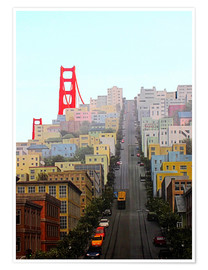 Poster  San Francisco and Golden Gate Bridgee - John Morris