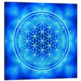Alu-Dibond  flower of life - archangel michael - Dolphins DreamDesign