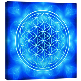 Toile  flower of life - archangel michael - Dolphins DreamDesign