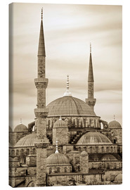 Tableau sur toile  the blue mosque in sepia (Istanbul - Turkey) - gn fotografie