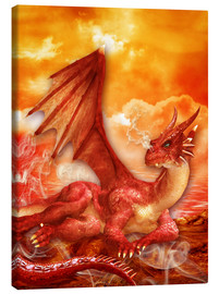 Toile  Red Power Dragon - Dolphins DreamDesign