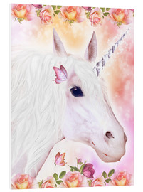 Tableau en PVC  Adorable licorne - Dolphins DreamDesign
