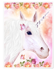 Poster Adorable licorne