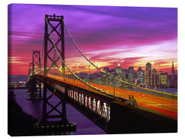 Tableau sur toile  Bay Bridge à San Francisco - Paul Thompson