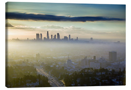 Toile  Los Angeles skyline in the morning mist - Walter Bibikow