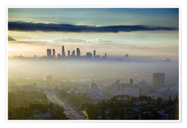 Walter Bibikow - Los Angeles skyline in the morning mist