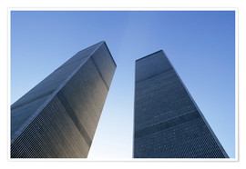 Poster  Twin Towers of the World Trade Centre - Sue Cunningham