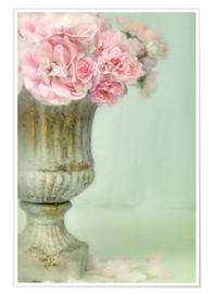 Poster Roses romantiques