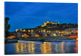 Verre acrylique  Fortress Marienberg Wurzburg at night - Fine Art Images