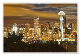 Poster  Vue sur Seattle  - Christopher Reed