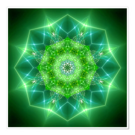 Poster  mandala healing power - Dolphins DreamDesign