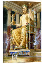 Tableau sur toile  Statue of Zeus at Oympia - English School
