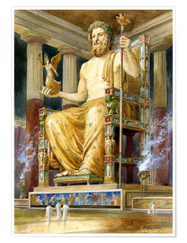 Poster  Statue of Zeus at Oympia - English School