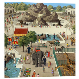 Tableau en verre acrylique  At the Zoo - Ronald Lampitt
