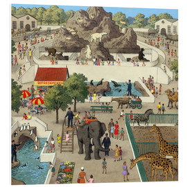 Tableau en PVC  At the Zoo - Ronald Lampitt