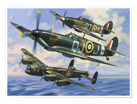 Poster  Spitfires - Wilf Hardy