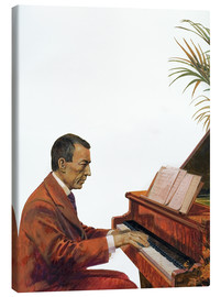 Tableau sur toile  Rachmaninoff playing the piano - Andrew Howat