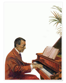 Poster  Rachmaninoff playing the piano - Andrew Howat