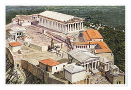 Poster The Acropolis and Parthenon