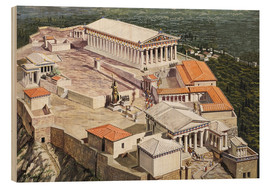 Tableau en bois  The Acropolis and Parthenon - Roger Payne