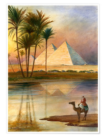 Poster  The Great Pyramid of Giizeh - English School