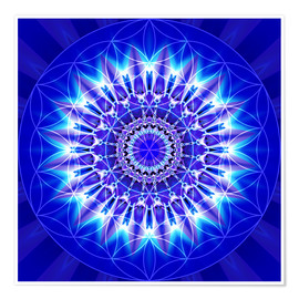 Poster  Spirituality with Mandala Flower of Life - Christine Bässler