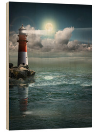 Bois  Lighthouse by moonlight - Monika Jüngling