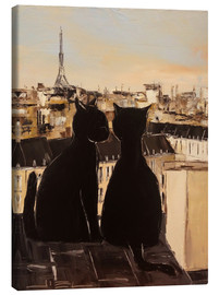 Toile  Cats on the roofs of Paris - JIEL