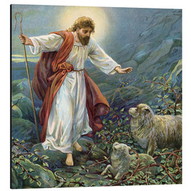 Alu-Dibond  Jesus Christ, the tender shepherd - Ambrose Dudley